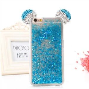 ✨Mickey Mouse blue glitter fall iPhone 7 Plus case